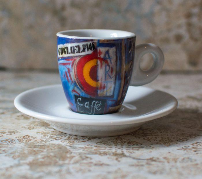 Caffé Art Espresso Tasse von Guglielmo in Kalabrien